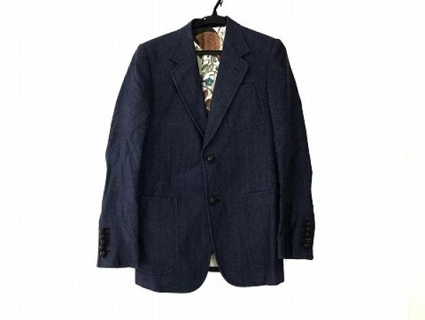 GUCCI(グッチ) ジャケット サイズ46 S メンズ美品  ブルー ヘリンボーン