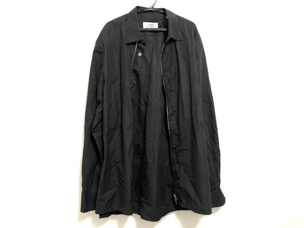 HERMES(エルメス) 長袖シャツ メンズ美品  黒 ジップアップ