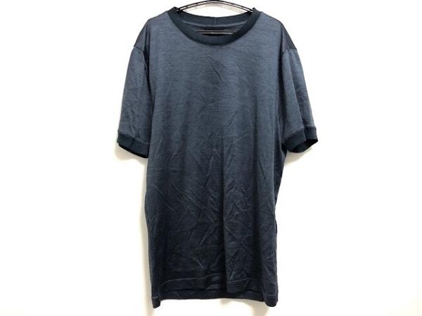 GIORGIOARMANI(ジョルジオアルマーニ) 半袖Tシャツ サイズ48 M メンズ美品  ブルー