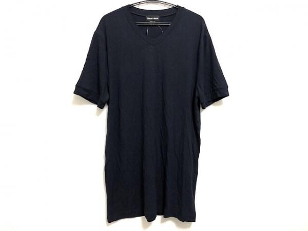 GIORGIOARMANI(ジョルジオアルマーニ) 半袖Tシャツ サイズ46 S メンズ ダークネイビー