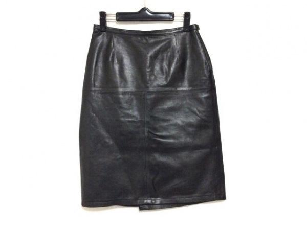 agnes b(アニエスベー) スカート サイズ38 M レディース美品  黒 レザー