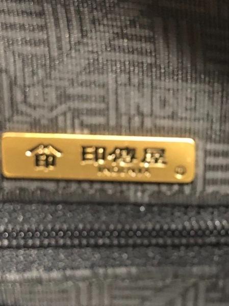 印傳屋(インデンヤ) ハンドバッグ 黒 レザー×漆