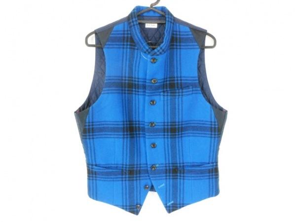 ポールスミス ベスト サイズM メンズ美品  ブルー×ネイビー×ダークネイビー
