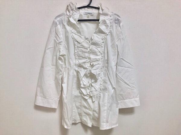 ナラカミーチェ 長袖シャツブラウス サイズ2 M レディース美品  白 フリル