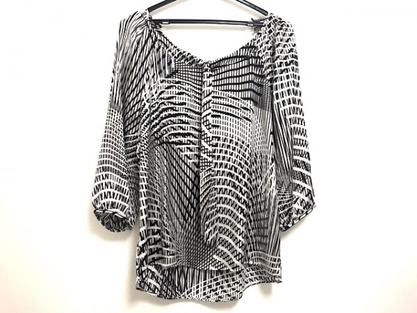 NARACAMICIE(ナラカミーチェ) 七分袖カットソー レディース美品  アイボリー×黒×白