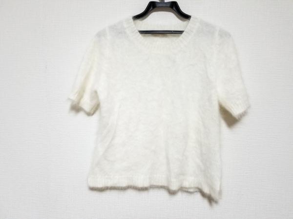 アベニールエトワール 半袖セーター サイズ38 M レディース美品  アイボリー