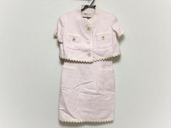 MUSEE D'UJI(ミュゼドウジ) ワンピーススーツ サイズ38 M レディース ピンク×白