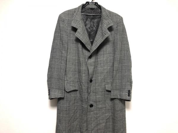 VERRI(ヴェリ) コート メンズ美品  黒×ライトグレー チェック柄