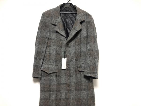 VERRI(ヴェリ) コート メンズ美品  グレー×ブラウン×マルチ チェック柄