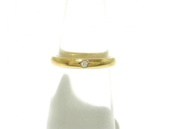 TIFFANY&Co.(ティファニー) リング美品  バンドリング K18YG×ダイヤモンド 1Pダイヤ