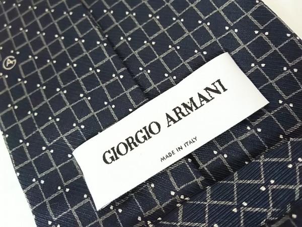 GIORGIOARMANI(ジョルジオアルマーニ) ネクタイ メンズ ネイビー×グレー×アイボリー