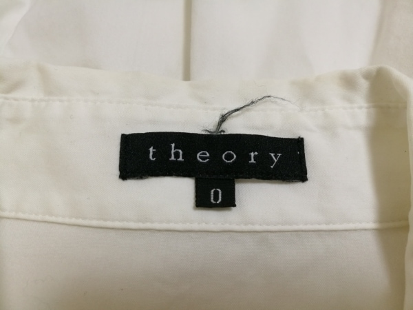 theory(セオリー) 半袖シャツブラウス レディース アイボリー