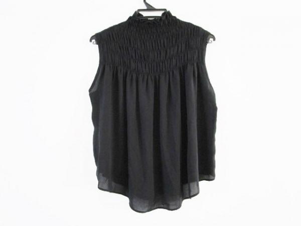 ダイアグラム ノースリーブシャツブラウス サイズ36 S レディース美品  黒