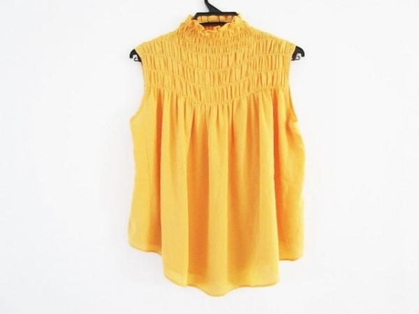 ダイアグラム ノースリーブシャツブラウス サイズ36 S レディース美品  オレンジ