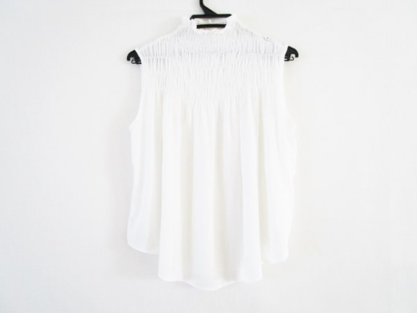 ダイアグラム ノースリーブシャツブラウス サイズ36 S レディース美品  白