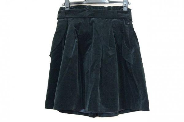 バーバリーブルーレーベル スカート サイズ38 M レディース美品  黒 ベロア
