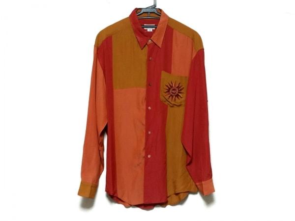 FICCE(フィッチェ) 長袖シャツ サイズM メンズ美品  オレンジ×レッド×マルチ
