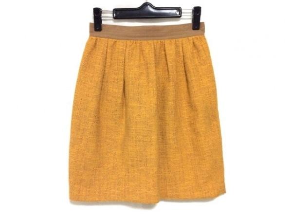 ジャスグリッティー スカート サイズ1 S レディース オレンジ×ライトブラウン