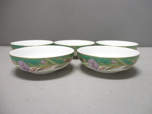 yumi katsura(ユミカツラ) 食器新品同様  白×グリーン×マルチ 花柄/ボウル×5 陶器