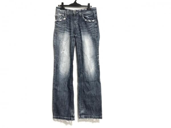 ロリータジーンズ ジーンズ サイズ30 メンズ ブルー×ライトブルー ダメージ加工