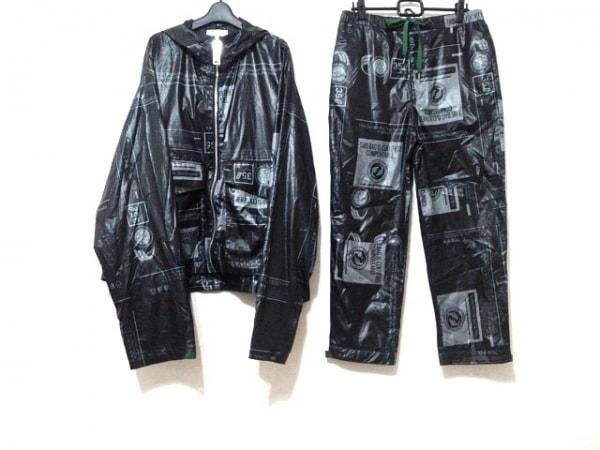 ミハラヤスヒロ メンズセットアップ サイズ46 XL メンズ 黒×グレー×グリーン