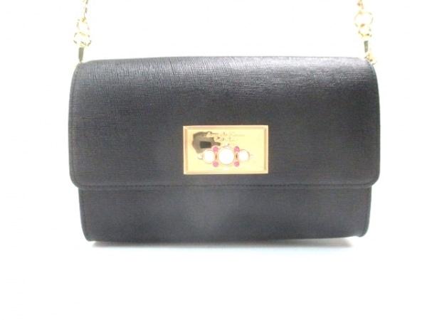サマンサタバサプチチョイス ショルダーバッグ美品  黒 PVC(塩化ビニール)