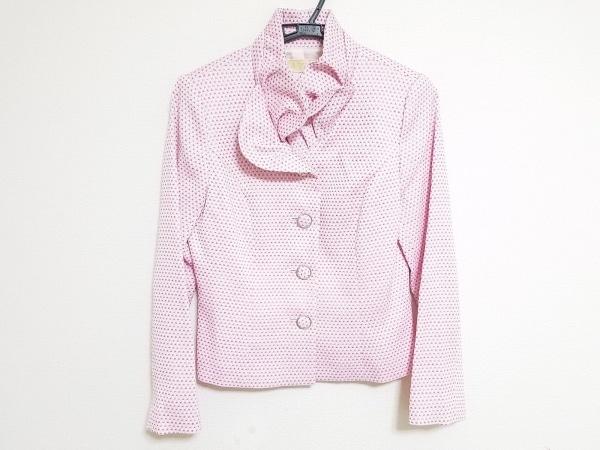 la festa chic(ラフェスタシック) ジャケット サイズ9 M レディース 白×ピンク