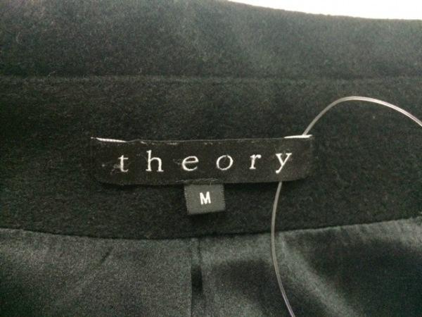 theory(セオリー) コート サイズM レディース美品  黒 シルク混/冬物
