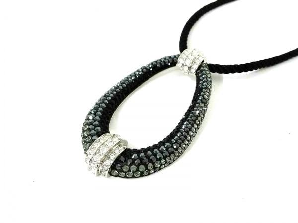 スワロフスキー ネックレス美品  金属素材×スワロフスキークリスタル×化学繊維