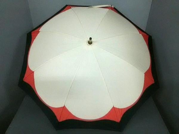 Sybilla(シビラ) 傘美品  アイボリー×ダークネイビー×マルチ 化学繊維×ウッド