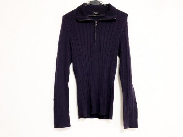 EPOCA(エポカ) 長袖セーター サイズ48 XL メンズ美品  パープル UOMO/ハイネック