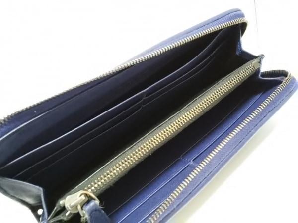 ボッテガヴェネタ 長財布 イントレチャート B04557524G ネイビー 編み込み レザー