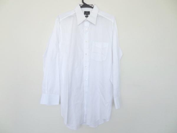 ランバンコレクション 長袖シャツ サイズ42-82 メンズ美品  白 ストライプ