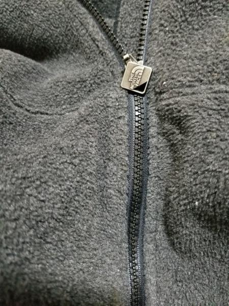 ノースフェイス ブルゾン サイズS メンズ美品  ダークグレー×黒 フリース/冬物