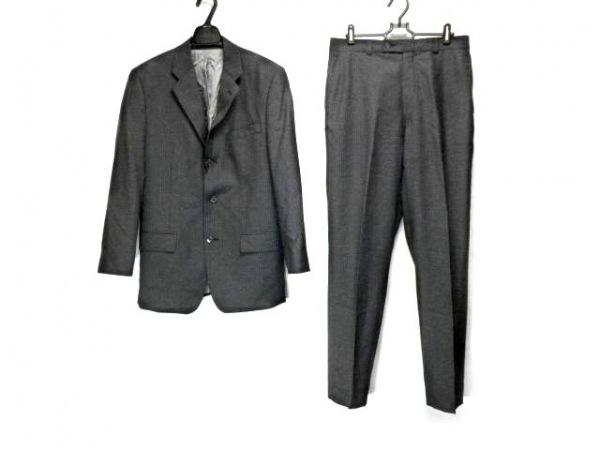 CalvinKlein(カルバンクライン) シングルスーツ メンズ 黒×ダークグレー ストライプ