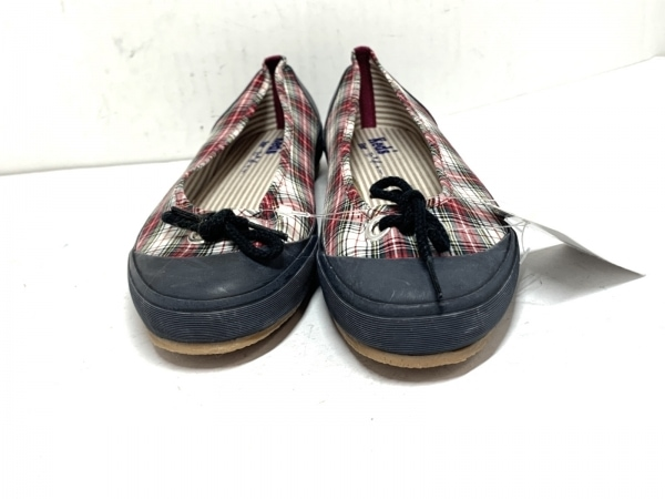 Keds(ケッズ) スリッポン L レディース レッド×白×マルチ for To★be. by agnes b.