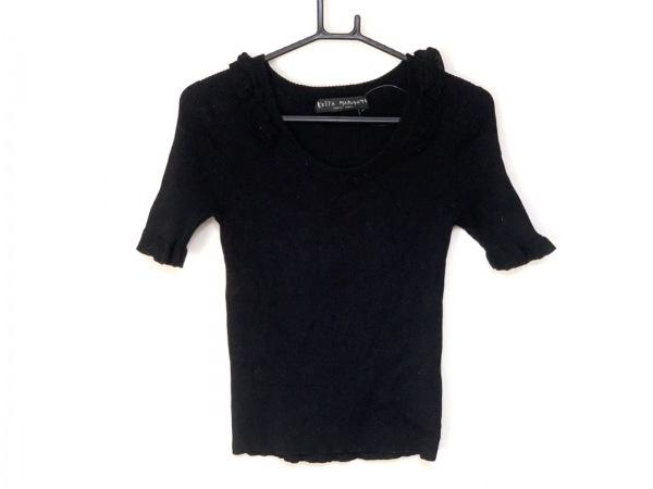 KEITA MARUYAMA(ケイタマルヤマ) 半袖セーター サイズ2 M レディース 黒 フリル