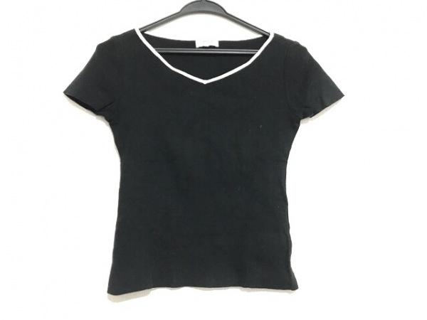 LANVIN(ランバン) 半袖カットソー サイズ38 M レディース美品  黒×白 ニット