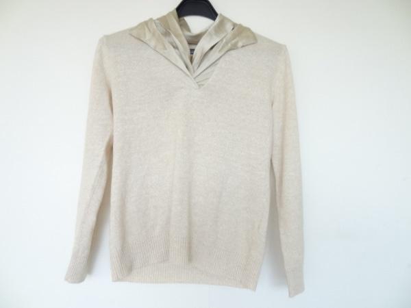 YOSHIE INABA(ヨシエイナバ) 長袖セーター サイズ9 M レディース美品  ベージュ
