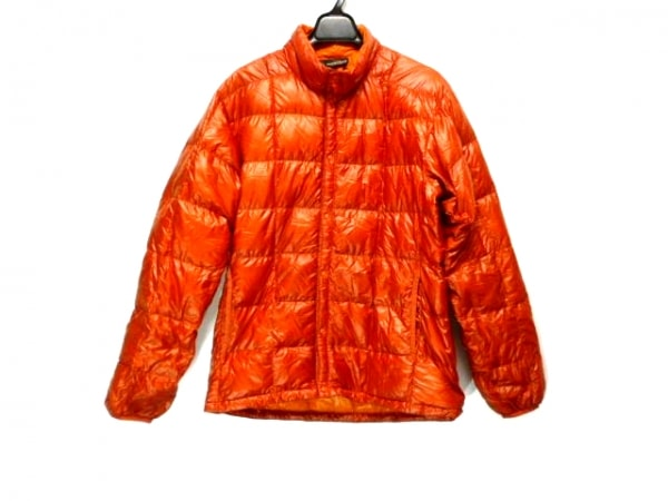 モンベル ダウンジャケット サイズS レディース レッド 冬物/インナーダウン