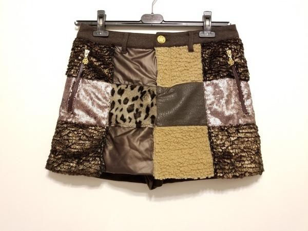 ダンスウィズドラゴン ショートパンツ サイズ4 XL レディース美品  パッチワーク