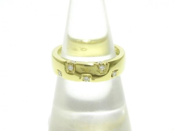 TRECENTI(トレセンテ) リング美品  K18YG×ダイヤモンド 0.12カラット
