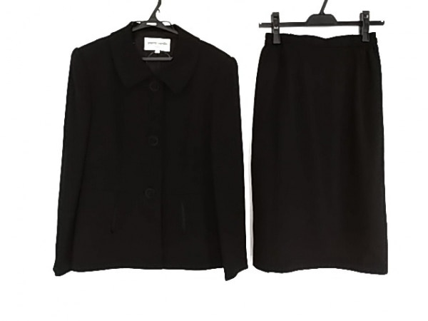 ピエールカルダン スカートスーツ サイズ9 M レディース美品  黒 ストライプ