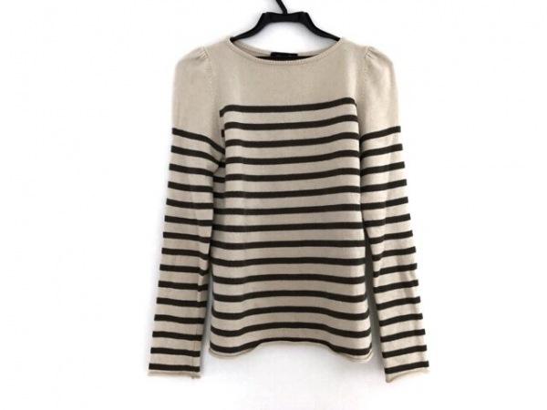 Drawer(ドゥロワー) 長袖セーター サイズ2 M レディース アイボリー×ダークブラウン