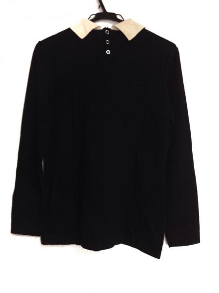 a7731183ed84 ... CELINE(セリーヌ) 長袖セーター サイズ40 M レディース 黒×アイボリー ...