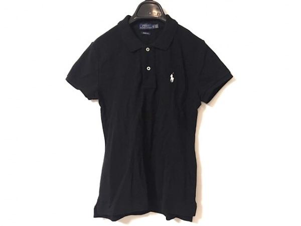 ポロラルフローレン 半袖ポロシャツ サイズXS レディース美品  黒×白