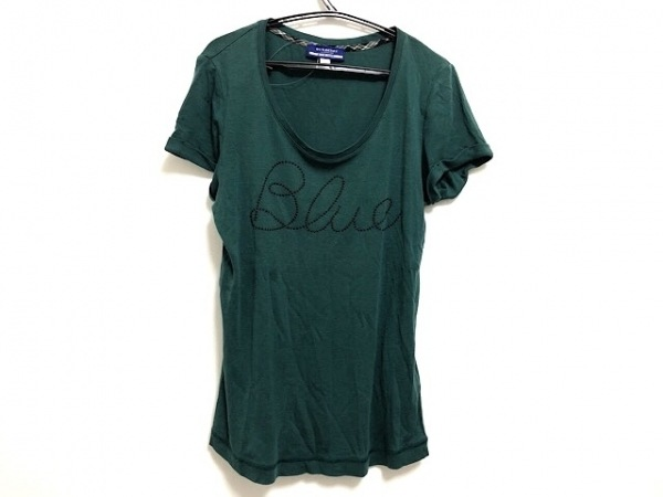 バーバリーブルーレーベル 半袖Tシャツ サイズ38 M レディース グリーン