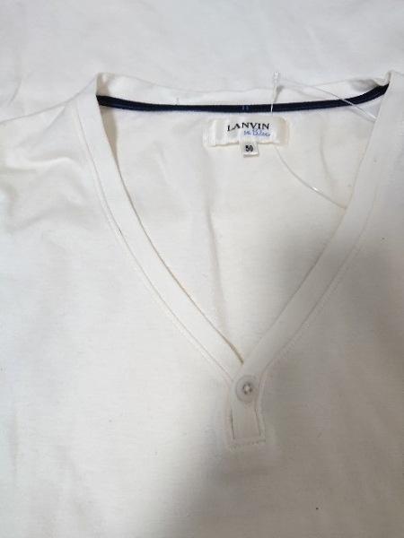 LANVIN en Bleu(ランバンオンブルー) 半袖Tシャツ サイズ50 メンズ美品  アイボリー