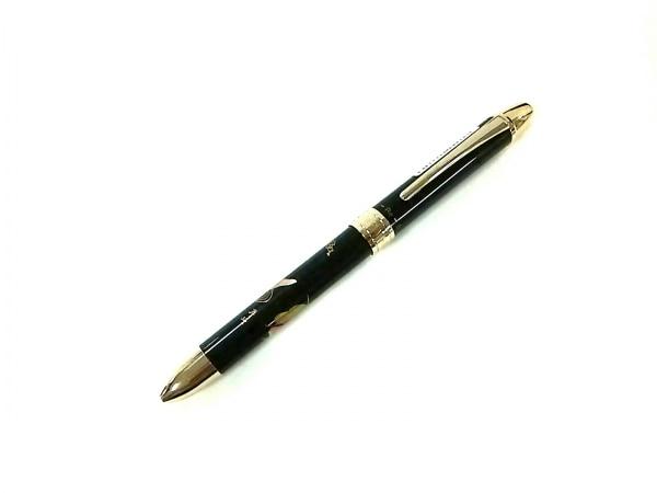 プラチナ ボールペン美品  ダブルアクションR3 黒×ゴールド×マルチ 金属素材