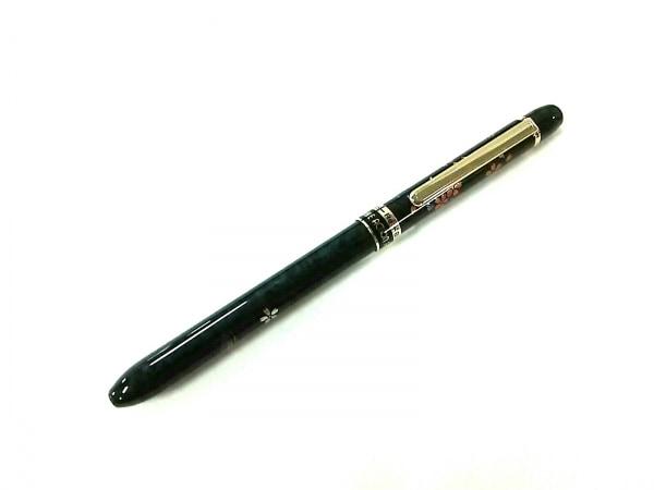 プラチナ ボールペン美品  ダブルアクションR3 MWBS-4000M 黒×ゴールド×マルチ